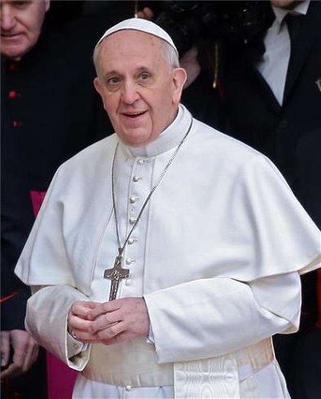 El papa Francisco, a su salida de la basílica de Santa María la Mayor, de Roma, el jueves.