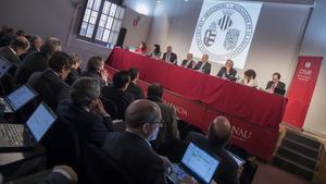 Reunión de la CRUE en Valencia, el pasado febrero.