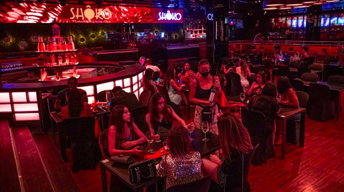 Interior de la discoteca Shoko de Barcelona