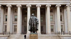 La sede del Departamento del Tesoro de EEUU.