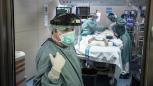Pacientes ingresados por covid en la UCI del Hospital de la Vall d'Hebron.