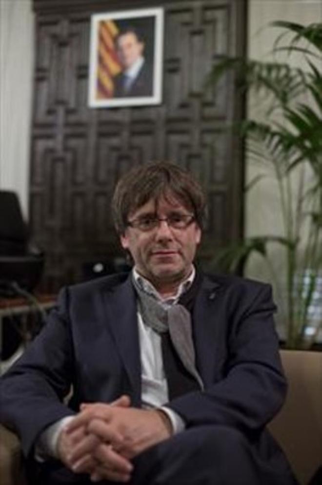 Discreto 8Carles Puigdemont, en su oficina de Girona, en noviembre pasado.