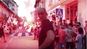 Homenaje al etarra Hodei Ijurko, a su regreso a Etxarri-Aranaz tras cumplir once años de cárcel, en septiembre de 2018.