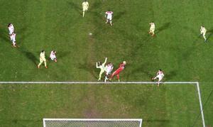 Imagen del partido Olympique de Lyon-Barça.