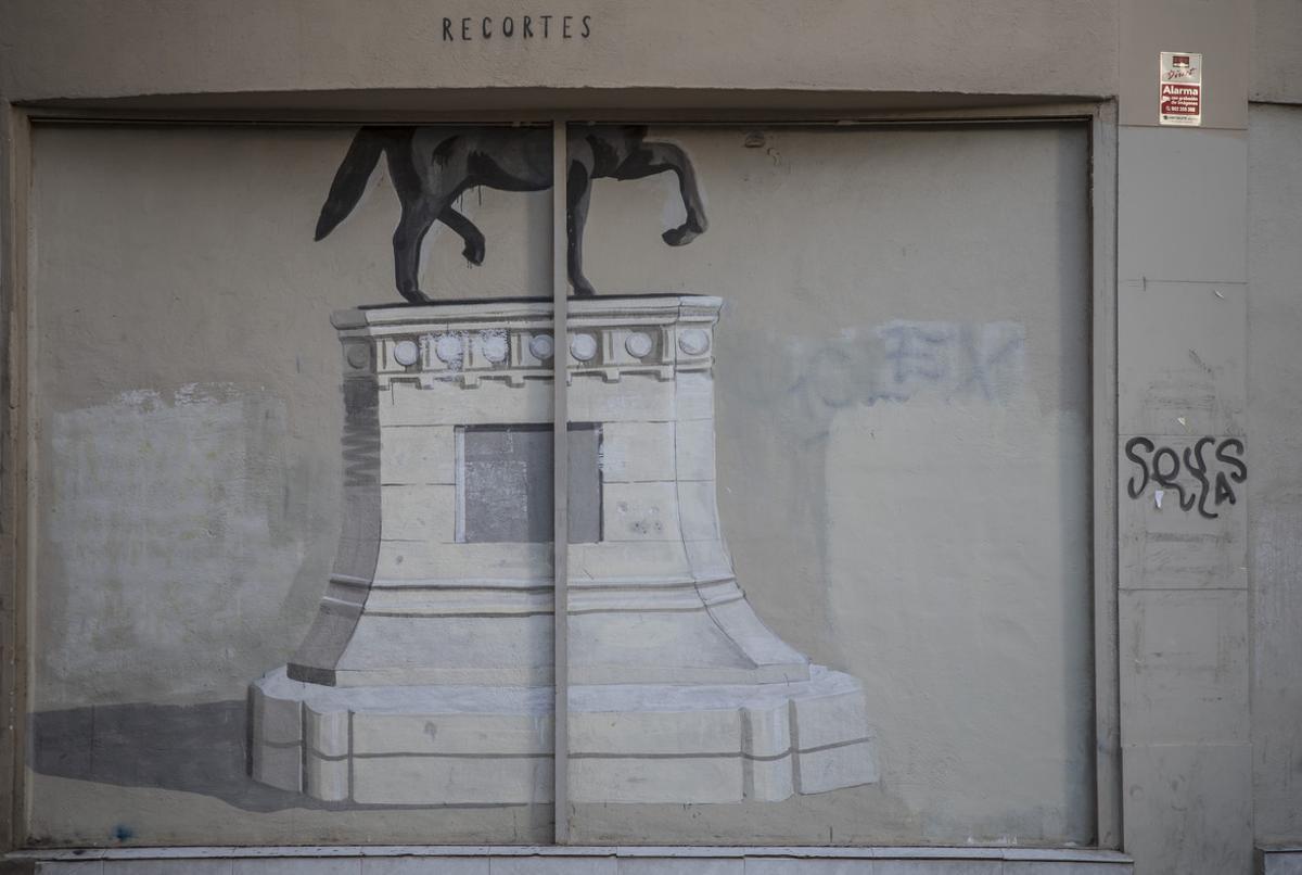 Una obra del grafitero Escif en Valencia