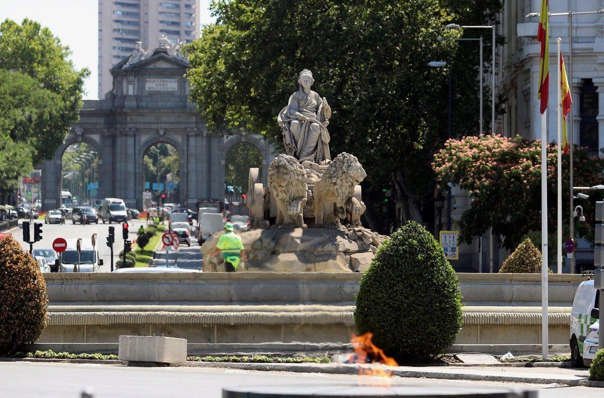 Plaza de Cibeles en Madrid, lugar de celebración del Real Madrid.