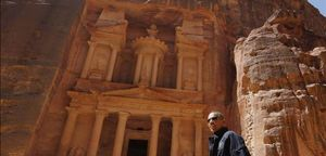 El president dels EUA, Barack Obama, al complex arqueològic de Petra (Jordània).