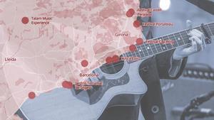Mapa dels festivals de música d'aquest estiu a Catalunya