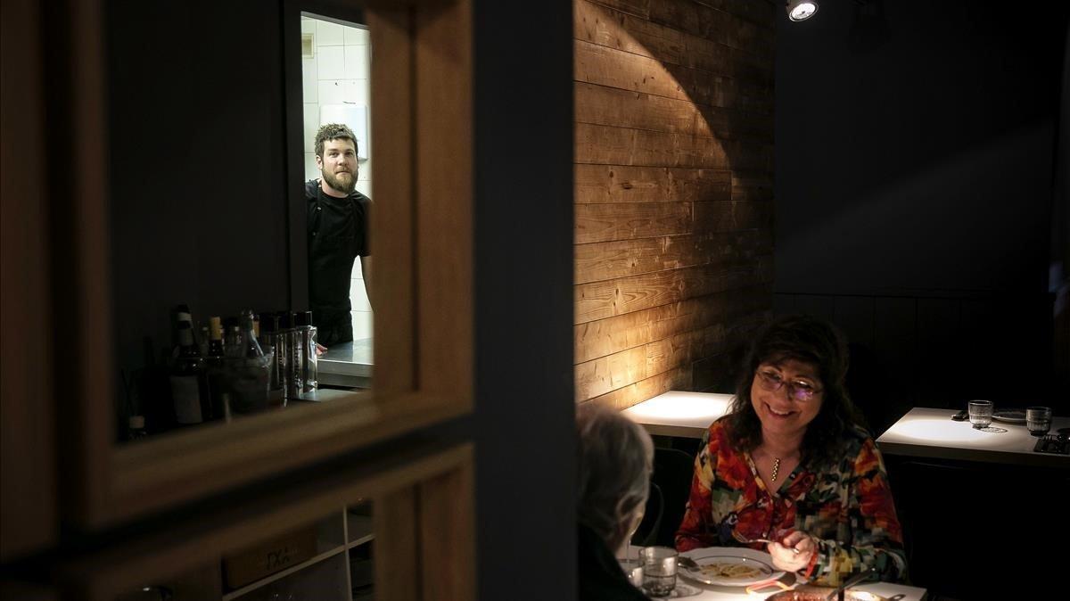 David Rustarazo, Rusti, entrevisto en el restaurante Nairod.