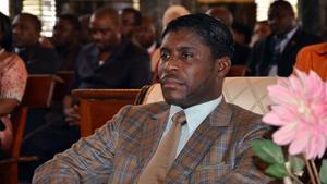 Teodorín Nguema Obiang, en su 41 aniversario, en la catedral de Malabo, en el 2013.