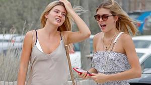 Victoria y Cristina, hijas de Julio Iglesias, de vacaciones en Eivissa.