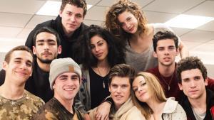 Los protagonistas de la nueva serie de Netflix, 'Élite', producida por Zeta Audiovisual.