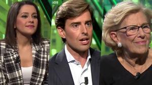Ines Arrimadas, Pablo Montesinos y Manuela Carmena, invitados en 'laSexta noche'.