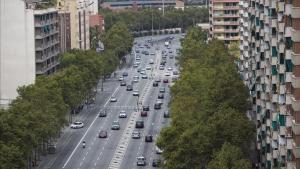 La avenida Meridiana de Barcelona.
