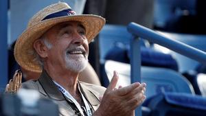 Sean Connery en el US Open de tenis en el 2012.