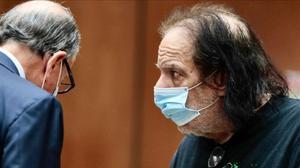 Ron Jeremy, en su comparecencia judicial, el martes en Los Ángeles.