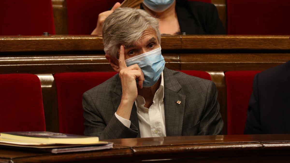 Josep Maria Argimon, en el Parlament.