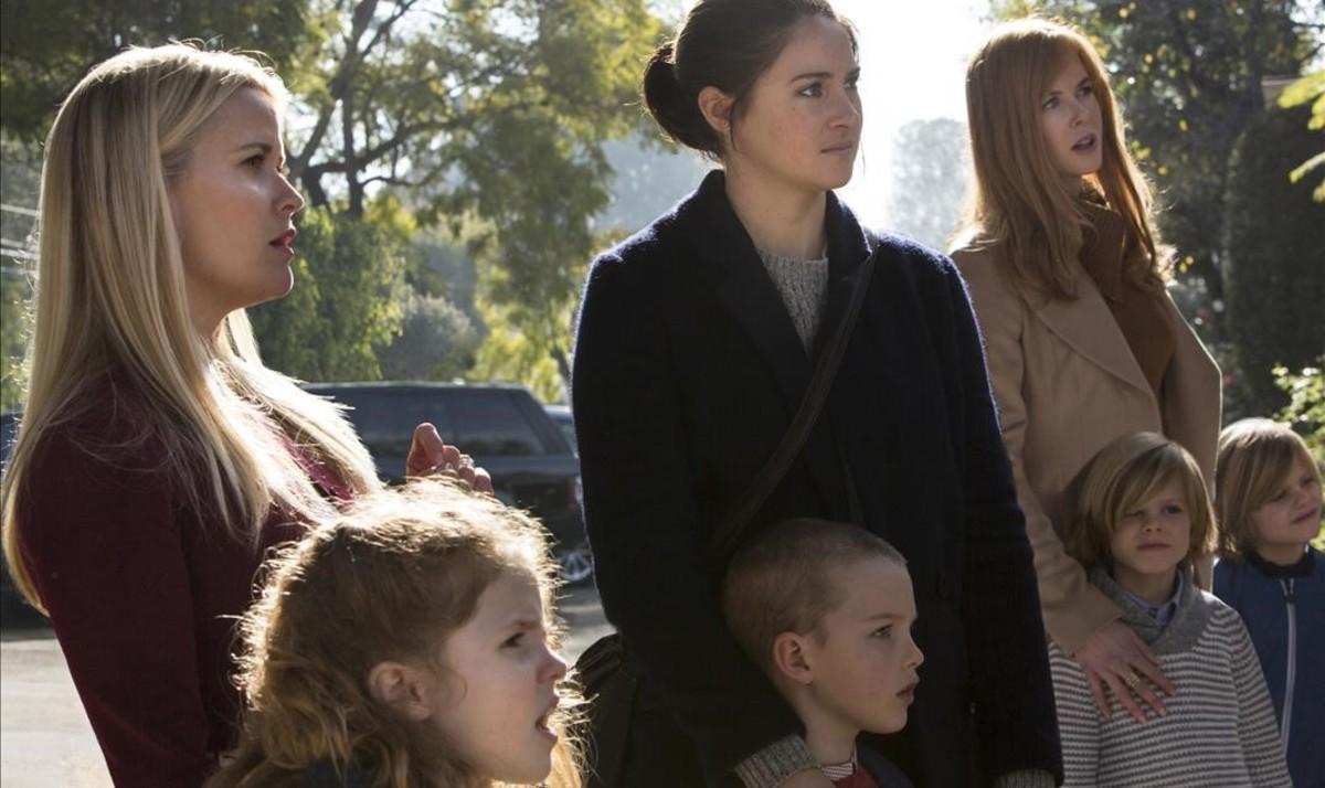 Reese Witherspoon, Shailene Woodley y Nicole Kidman, en una escena de la serie 'Big little lies'.