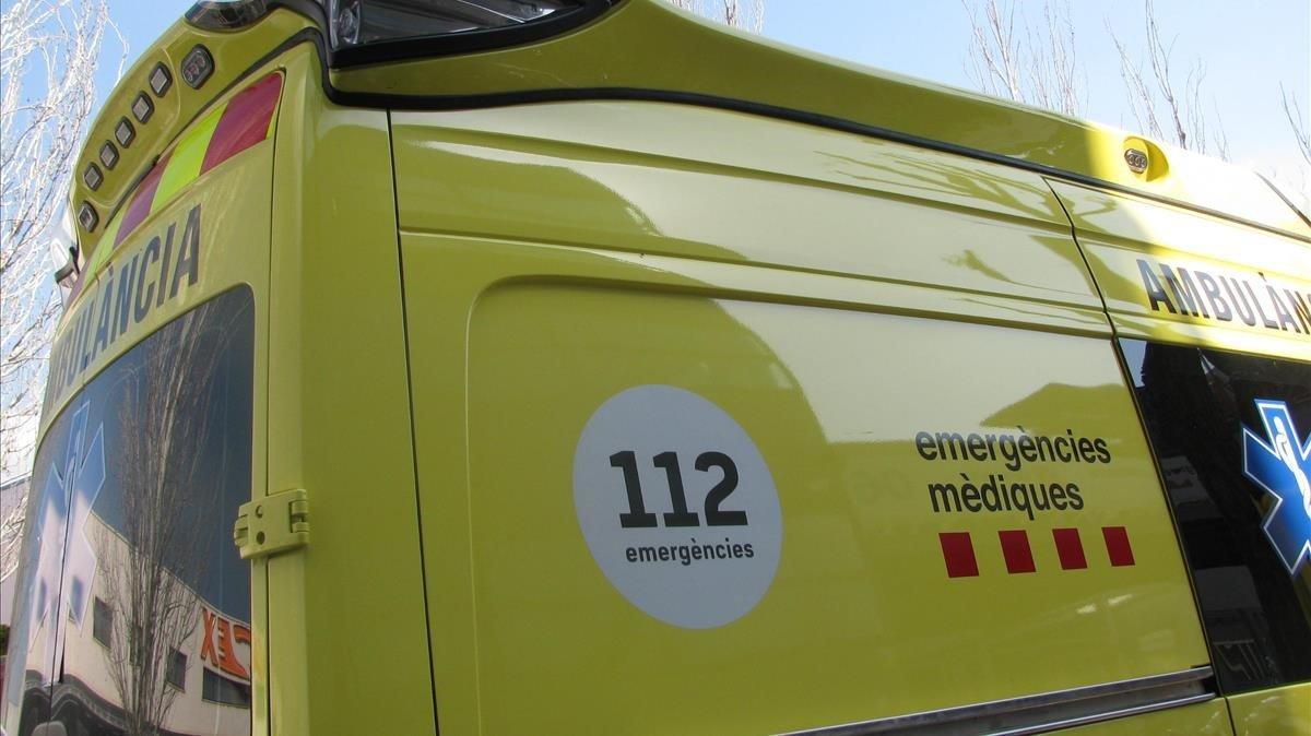 Una ambulancia del Sistema d'Emergències Mèdiques de Catalunya.
