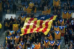 'Estelades' en un partido de Champions en el Camp Nou.