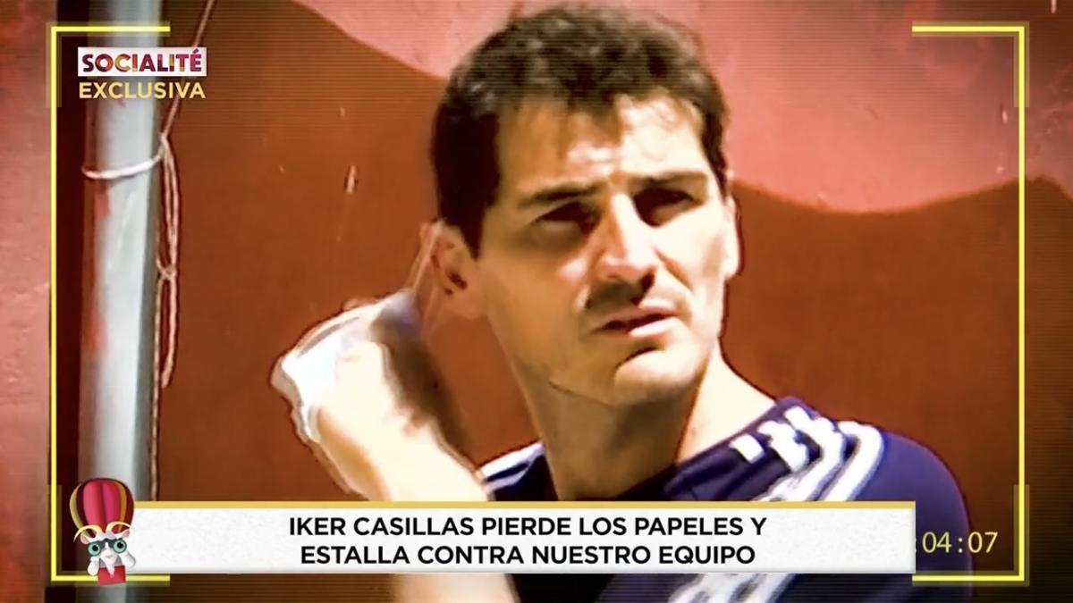 """Iker Casillas planta cara a un equipo de 'Socialité' tras ser perseguido por su pueblo: """"Tonto no soy"""""""