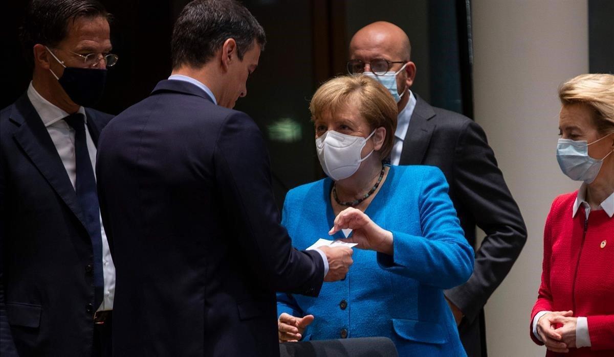 Merkel habla el sábado con Pedro Sanchez en la reunión del Consejo Europeo