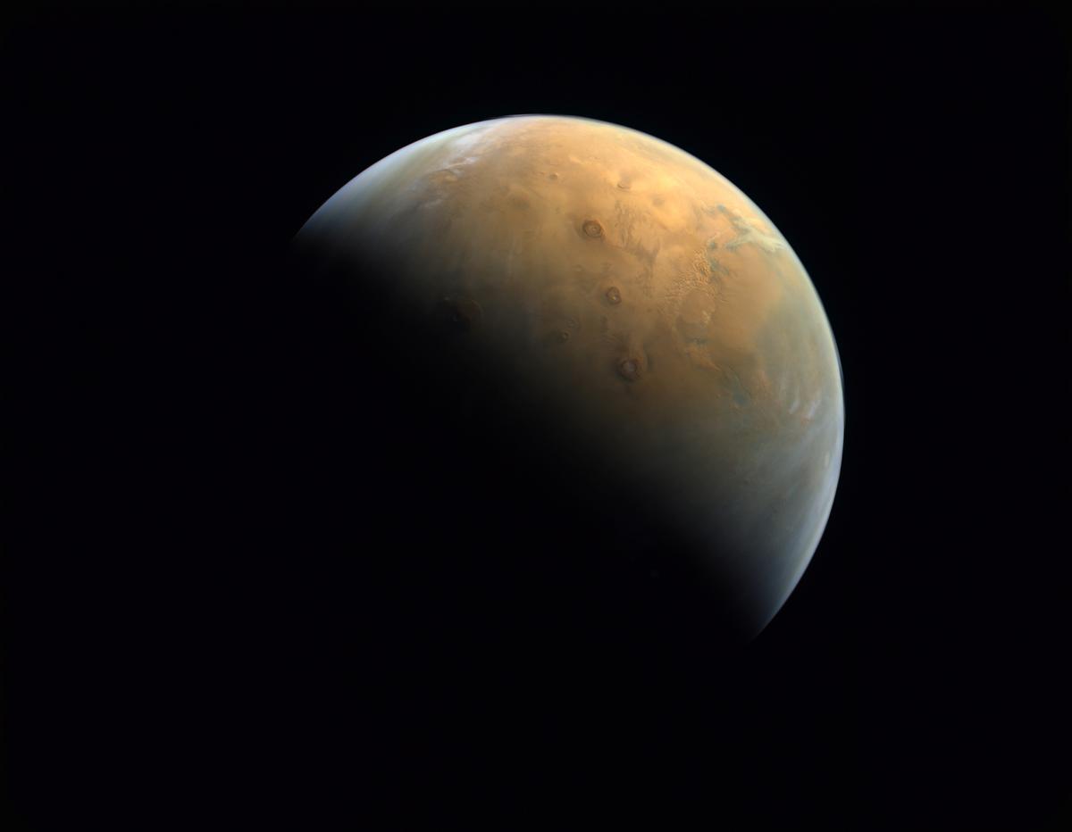 Imagen de Marte captada por la sonda 'Hope', de los Emiratos Árabes.