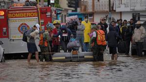 Inundaciones en el estado de Chiapas, México.