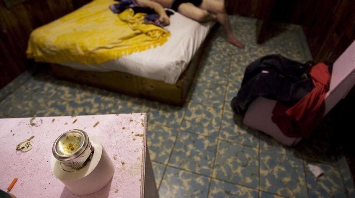 Restos de heroína en una habituación de hotel de Tijuana, en México, donde la policía encontró a un fallecido por sobredosis, en una foto de archivo.