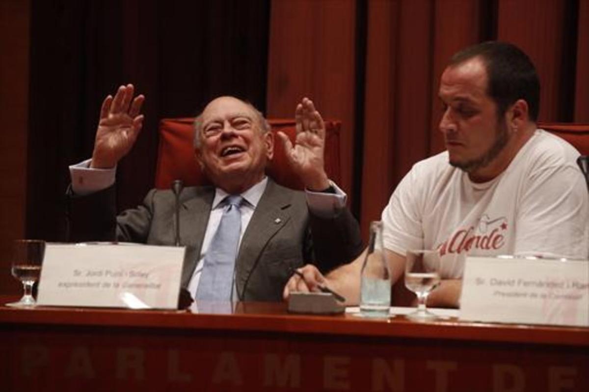 Jordi Pujol, en la comisión de investigación de la corrupción (2015).
