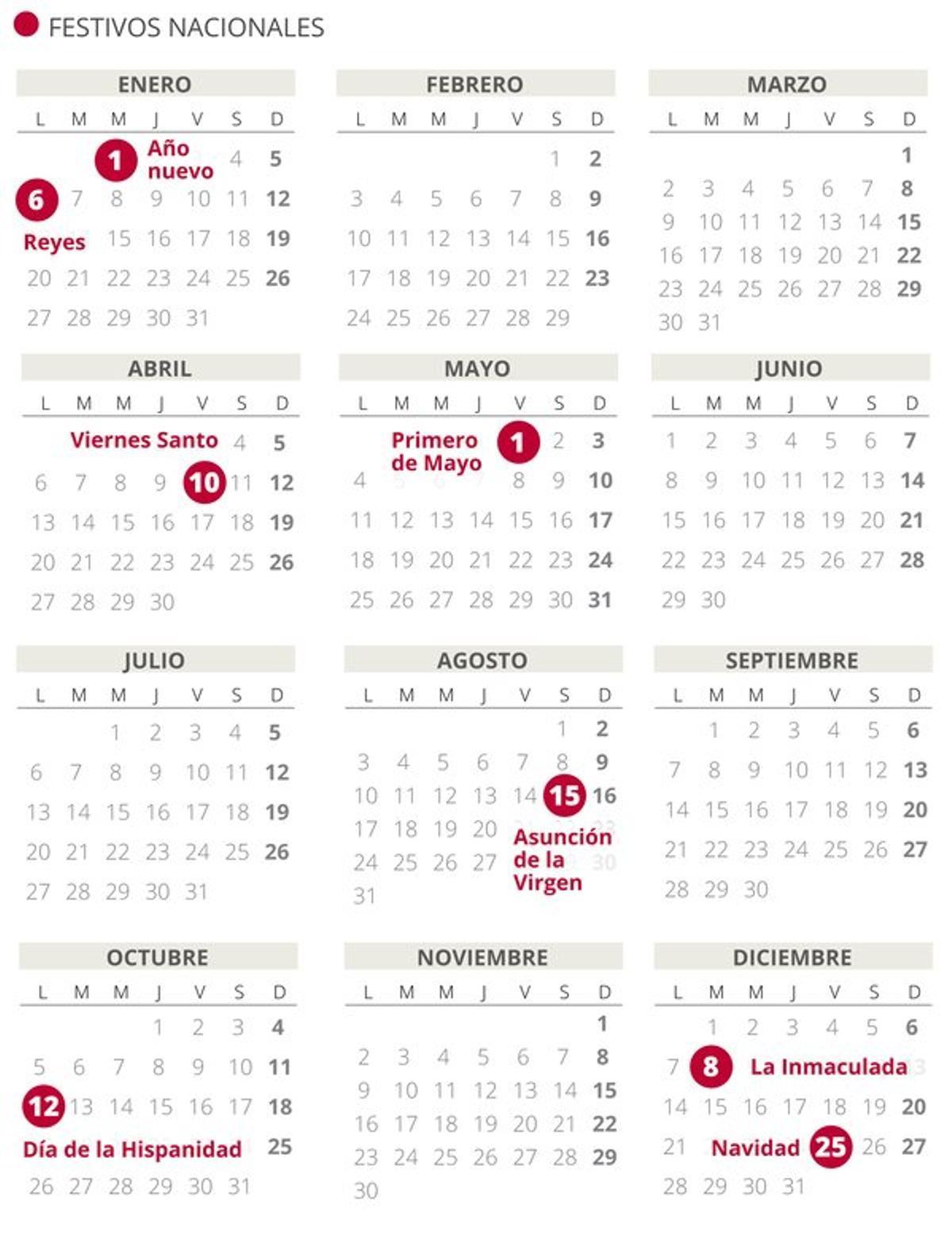 Calendario Laboral 2020 Consulta Puentes Y Festivos Por Autonomías
