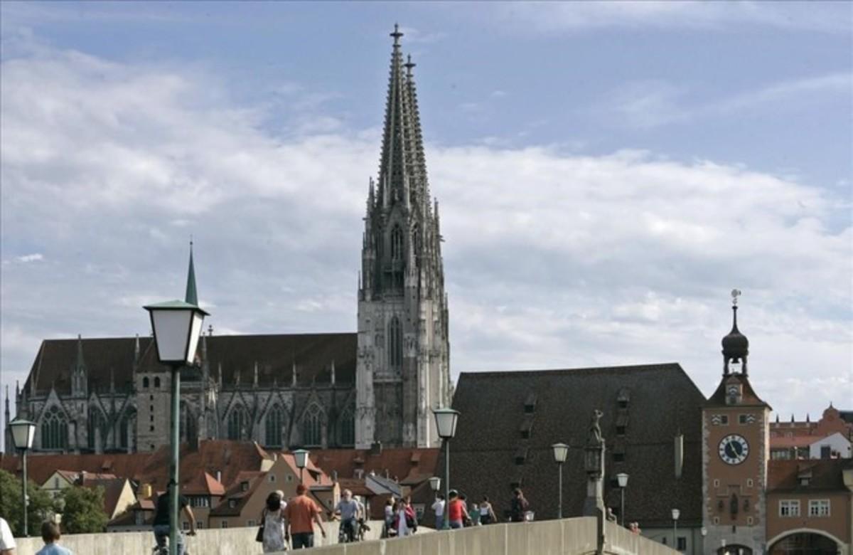 La catedral de la ciudad de Ratisbona, Regensburg en alemán.