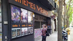 Los cines Verdi, cerrados en tiempos de coronavirus.