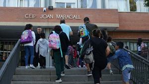 Inicio del curso escolar en Esplugues.