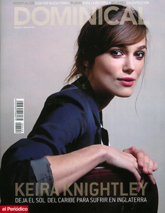Keira Knightley, en la portada del 'Dominical'.