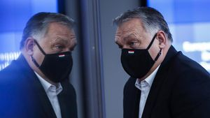 Brussels (Belgium)  11 12 2020 - Hungarian Prime Minister Viktor Orban leaves a face-to-face EU summit  in Brussels  Belgium  11 December 2020  EU leaders mainly focus on a response to the COVID-19 pandemic  a multi annual framework (MFF) agreement  and a new EU emissions reduction target for 2030  (Belgica  Bruselas) EFE EPA FRANCISCO SECO   POOL