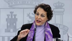 La ministra de Trabajo,Magdalena Valerio, en rueda de prensa tras una reunión delConsejo de Ministros.