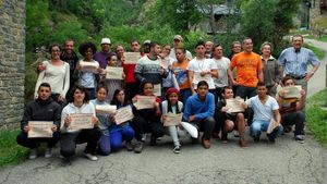 Acirtividad del Casal dels Infants en Tavascan, en julio del 2014.