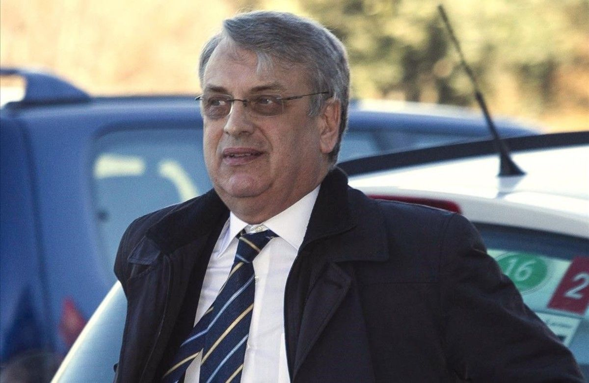 El exsecretario del Instituto Nóos, Miguel Tejeiro, a su llegada al juicio el pasado día 9 de marzo.