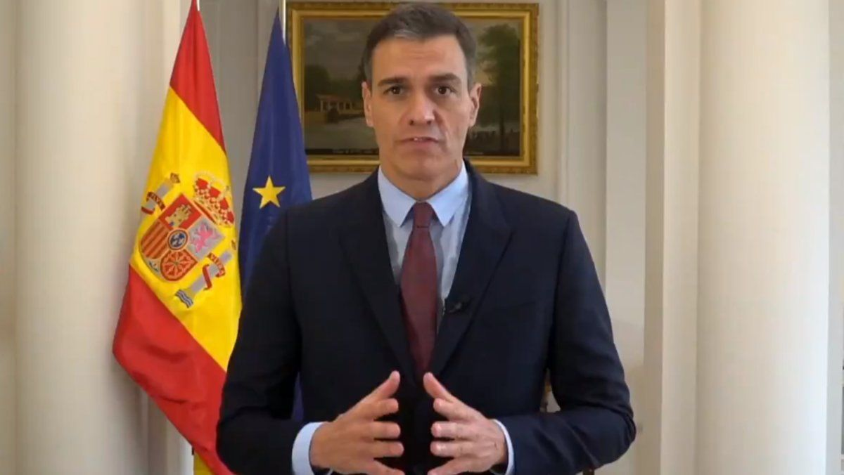 Pedro Sánchez, en el vídeo compartido en la cuenta del G-20 de Arabia Saudí.