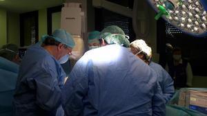 Un quirófano del Hospital Vall d'Hebron de Barcelona.
