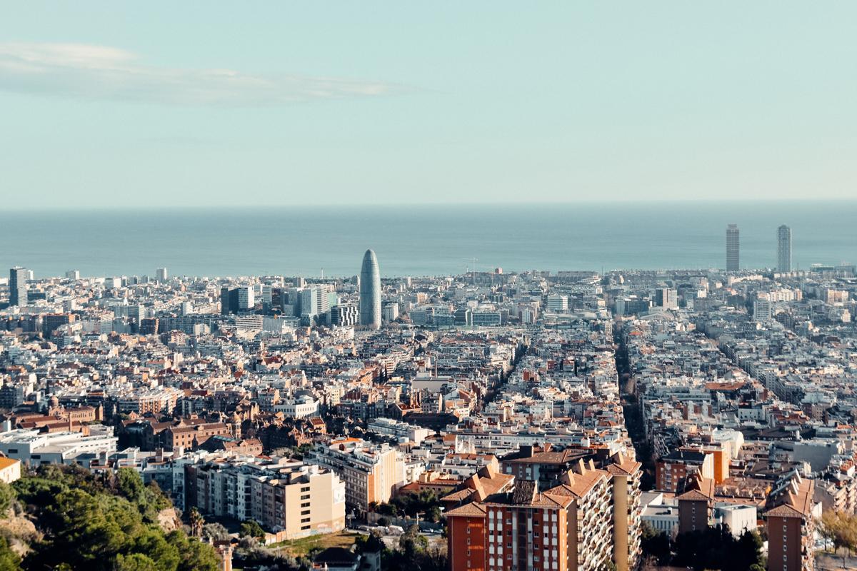 Vista de Barcelona desde Collserola.