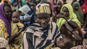 Desplazados del Lago Chad por la violencia de Boko Haram.