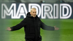 El entrenador del Real Madrid Zinedine Zidane.