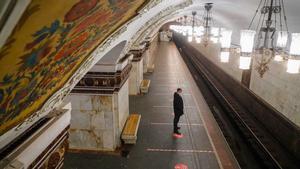 Una estación del metro de Moscú.