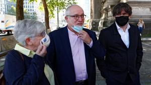 Clara Ponsati, Lluis Puig y Carles Puigdemont llegan al Palacio de Justicia de Bruselas, Bélgica.