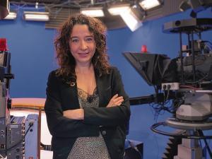 Gemma Puig, presentadora del tiempo en TV3 y Catalunya Radio