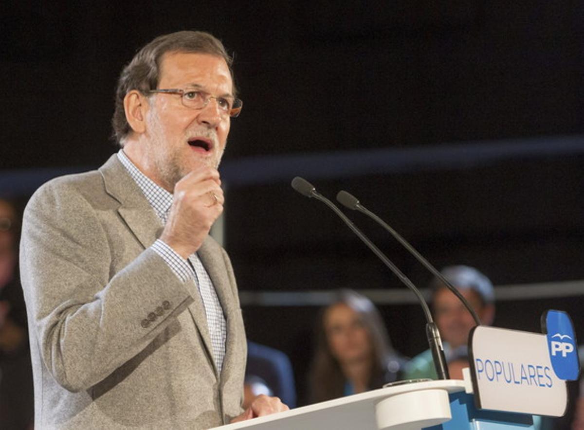 Mariano Rajoy, en la clausura de las jornadas del PP sobre buen gobierno, este sábado en Cáceres.