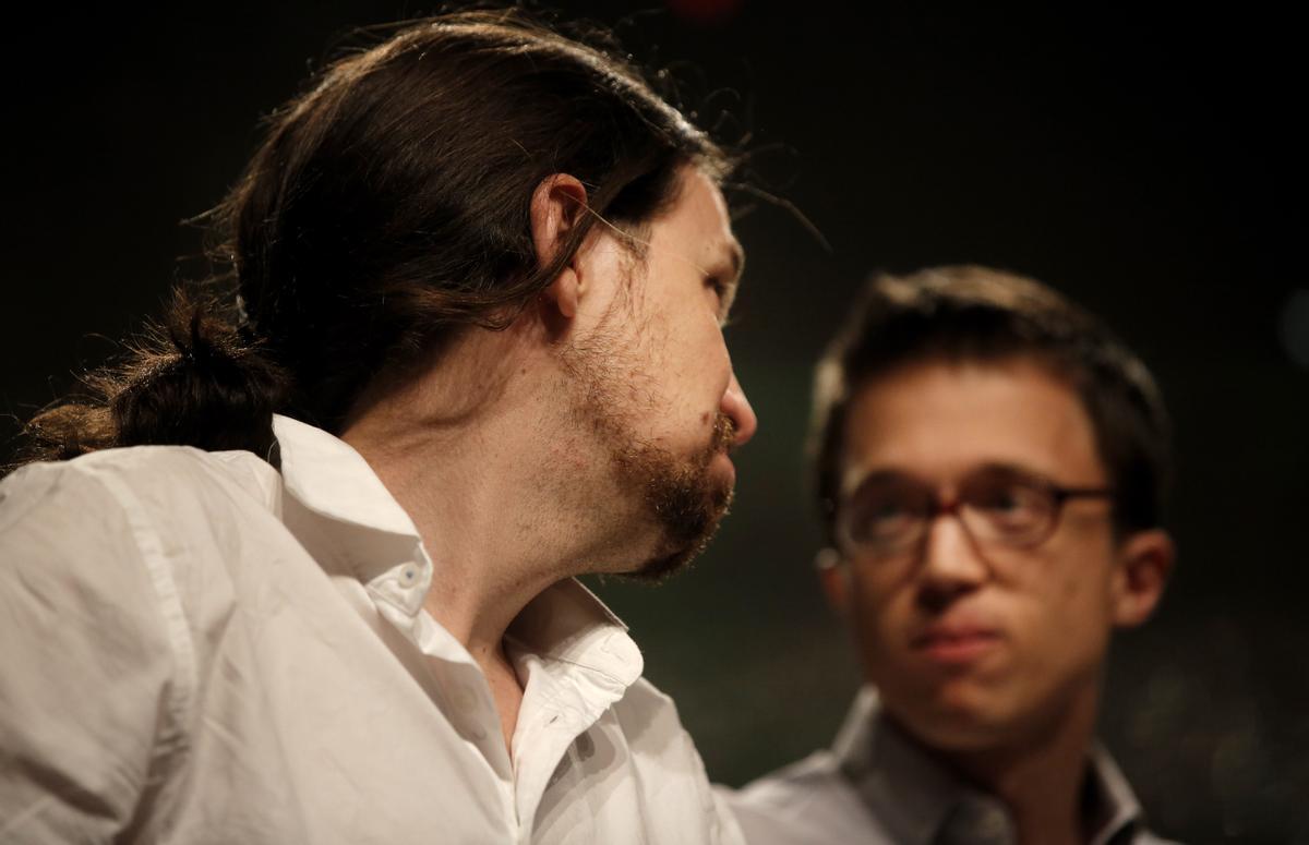 Pablo Iglesias e Íñigo Errejón en 2016