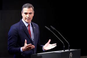 El presidente del Gobierno, Pedro Sánchez, durante su intervención en LaCasa de América este lunes.
